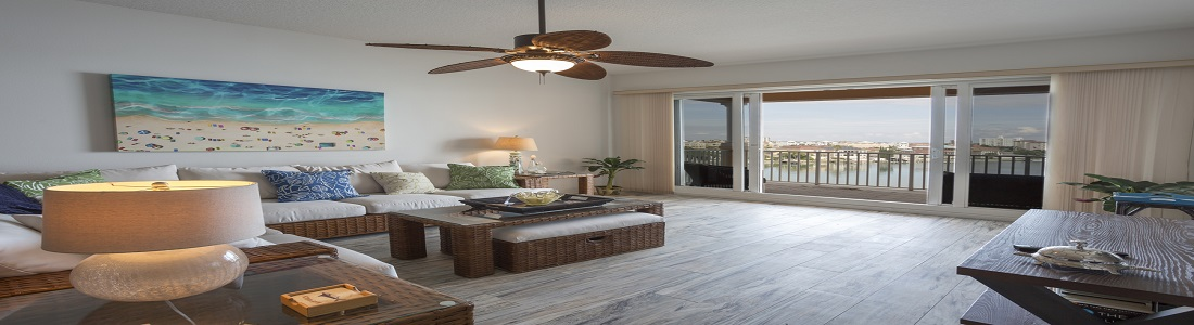 Living Area With Bay Views